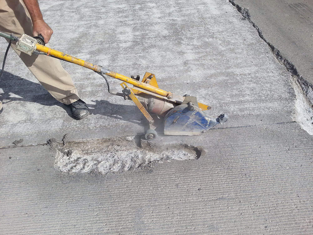 Preparing a road for repair
