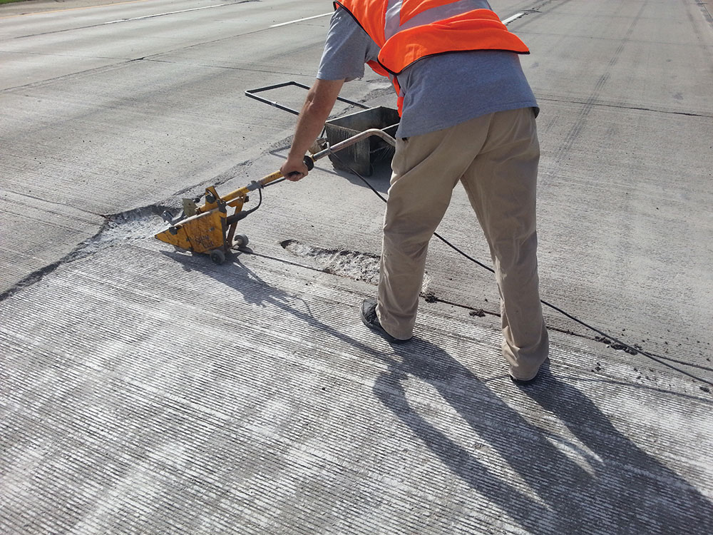 Road repair worker